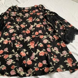 Floral Print RE NAMED Bell sleeve dress